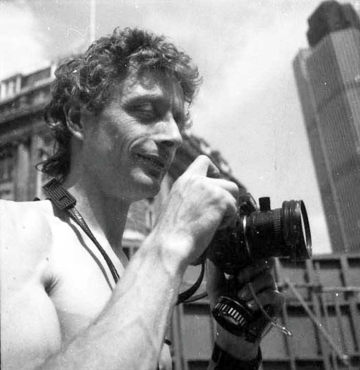 whilst there have been hundreds of archaeologists working in London since the formation of the DUA in 1975 to the present day, just how few photographers there have been in the intervening period, a paltry six in over forty years of continuous archaeological excavation!   Photo of photographer John Bailey Jon Bailey taking part in 'National Naturist Day' at Leadenhall Court (LCT84) in 1984.