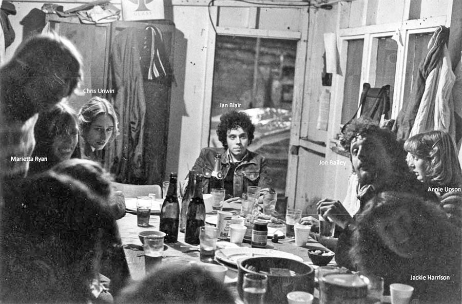 GPO Newgate Street 1978: party in the site hut (x2)
