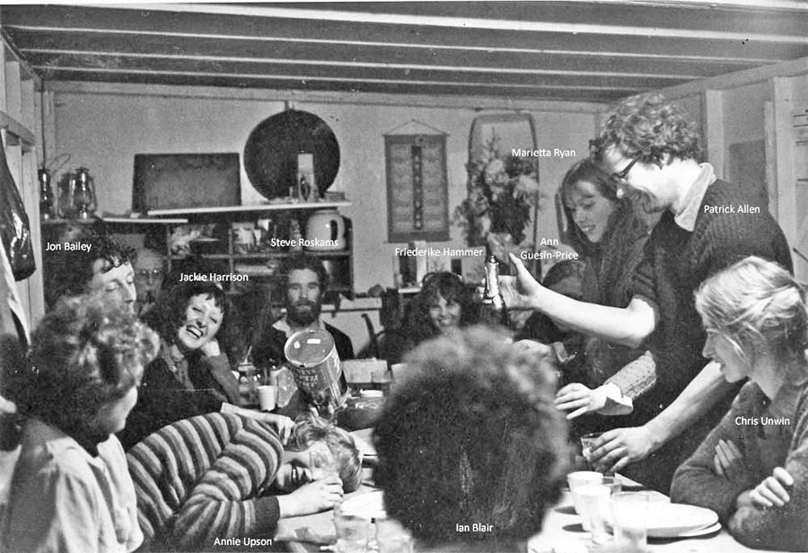 GPO Newgate Street 1978: party in the site hut (x1)